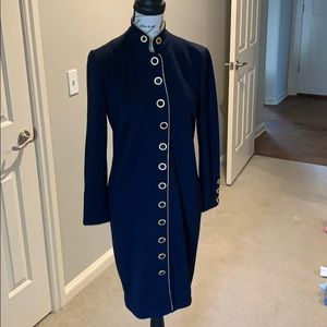 St. John navy blue dress size 4 perfect for fall